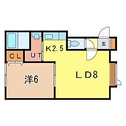 サンピア8・9[1階]の間取り