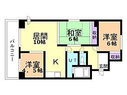 5.3ハイム[2階]の間取り