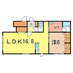 Uマークアー[1階]の間取り