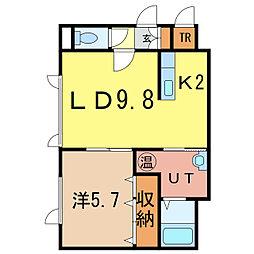 グランピア6-2[1階]の間取り