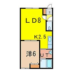 ビランドリーA[2階]の間取り