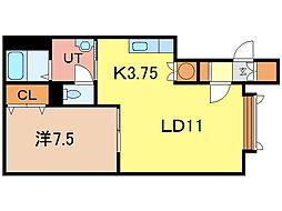 メゾン・ド・神居B[2階]の間取り