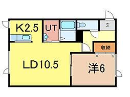 パープル410[2階]の間取り