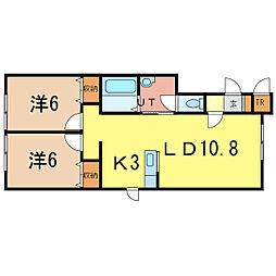 レグルス213[2階]の間取り