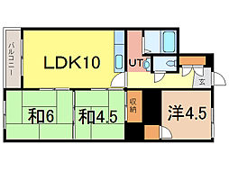カムイ24A[4階]の間取り