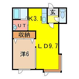ルシェール714[1階]の間取り