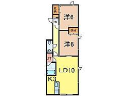 タイトリバー202[1階]の間取り
