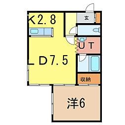 メモリアル東光[2階]の間取り