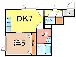 北海道旭川市神楽六条11丁目の賃貸アパートの間取り