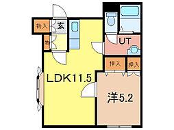 ウィステリア21B[1階]の間取り