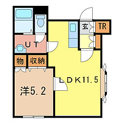 北海道旭川市二条通21丁目の賃貸アパートの間取り