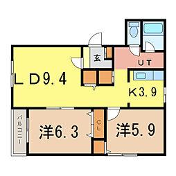 ピュアライフII[1階]の間取り