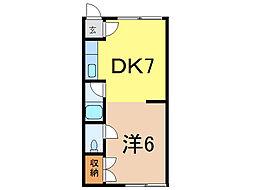 大栄ハイツ[2階]の間取り