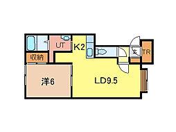 ベラーノE棟[2階]の間取り