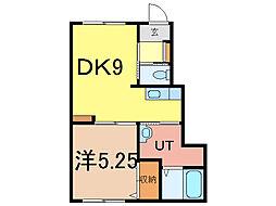 Maisons-Laffitte 1階1DKの間取り