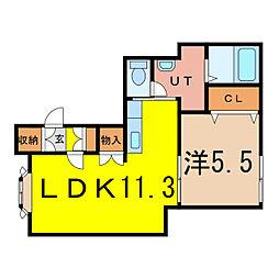 タウンズ6.1[2階]の間取り