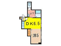 PINO2・5 3階1DKの間取り