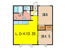 ルナロッサII[1階]の間取り