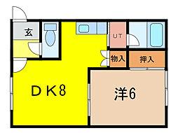 10.13コーポB棟[2階]の間取り