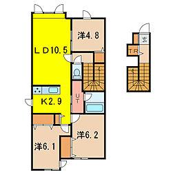 ファミリアA[2階]の間取り