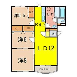 パンフイュ松葉[2階]の間取り
