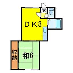 コンポラハイツ[1階]の間取り