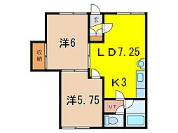 レオナ東光6・6[1階]の間取り