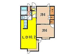 エステート138C[1階]の間取り