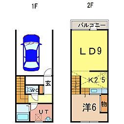 K.M.S A棟[1階]の間取り
