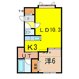 ステラガーデンIII[2階]の間取り