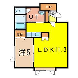 タウンズ7.19A[1階]の間取り