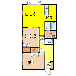 アルファガーデンコートII[1階]の間取り