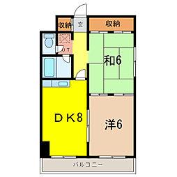 滝川ハイツNo.1[3階]の間取り