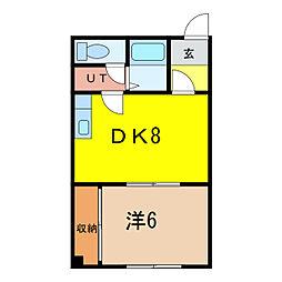 日昇ビル[5階]の間取り