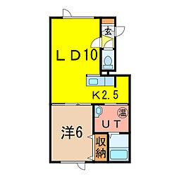 Leaf[2階]の間取り