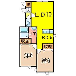 PrimeSK43[1階]の間取り
