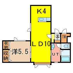 hyattII[1階]の間取り
