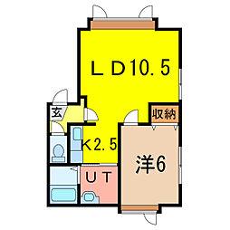 南1-25 新築[2階]の間取り