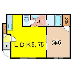 ダイヤハイツ本町2[2階]の間取り