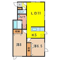 プレミア4・4 A棟[1階]の間取り
