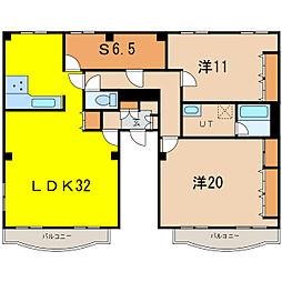 エスティ三番舘5号館[3階]の間取り