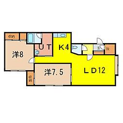 アスティ22A[2階]の間取り