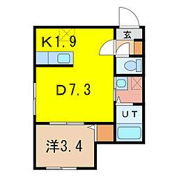 仮称:2条通10丁目MS[1階]の間取り