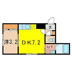 仮称:2条通10丁目MS[5階]の間取り