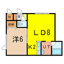 クリスタルコーポ[1階]の間取り