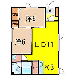 マンション虹[1階]の間取り