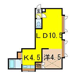 コートプラネットA・B[2階]の間取り