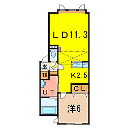 メゾン・ド・ルシャI[2階]の間取り