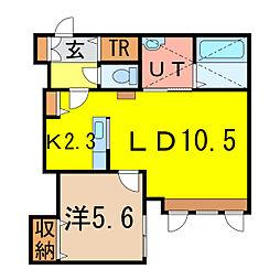 東6-10新築MS A棟[2階]の間取り