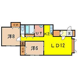 アレスC[2階]の間取り